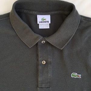 Lacoste Men's Gunmetal Gray Polo Shirt